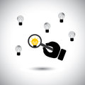 Finding talented employees with best ideas - concept vector Stock Image