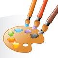 Fine arts equipment Stock Image