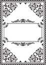 Fine baroque frame isolated on white Royalty Free Stock Photo
