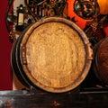 Fine Big Wine Wooden Barrel Royalty Free Stock Photo