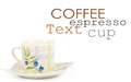 Fine china cup and saucer filled Stock Image