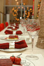 Fine dinning table setting Royalty Free Stock Photos