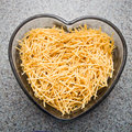 Fine Egg Noodles Royalty Free Stock Photo