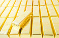 Fine gold 999,9. Stock Photos