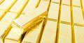 Fine gold set of ingots Stock Photos