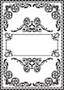 Fine ornate page isolated on white Royalty Free Stock Photo