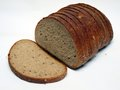 Fine rye bread sliced close up on white background Royalty Free Stock Photo
