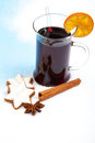 Fine served mulled wine Royalty Free Stock Photo