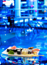 Fine sushi on a plate Royalty Free Stock Image