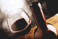 Fine wine - tilt shift selective focus Royalty Free Stock Photo