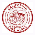 Fine Wines stamp Royalty Free Stock Photography