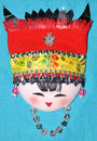 Finery embroidery of Chinese minority traditional Royalty Free Stock Image