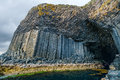 Fingal's Cave, sea cave on the uninhabited island of Staffa Royalty Free Stock Photo