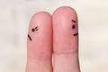 Finger Art Of Couple. Couple A...