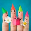 Finger Art Of Friends. Group O...