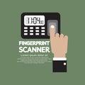 Finger On Fingerprint Scanner Device Stock Image