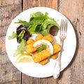 Finger fish stick Royalty Free Stock Photo