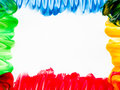 Finger painting frame Royalty Free Stock Photo