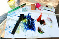 Finger Painting Tools Royalty Free Stock Image