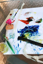 Finger Painting Tools-Vertical Stock Images
