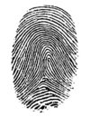 Finger print. Royalty Free Stock Photo