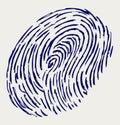Finger print. Doodle style Stock Photos