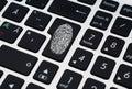 Finger Print on Enter Key of Keyboard
