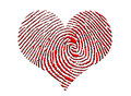 Finger Print Heart Stock Photo