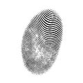 Finger print on white background Stock Photo