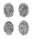 Finger prints set icon vector. Royalty Free Stock Photo