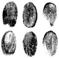 Finger prints vector Royalty Free Stock Images