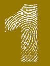 Fingerprint Alphabet - Number 1 Royalty Free Stock Photos