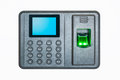 Fingerprint attendance machine on a white background Royalty Free Stock Images