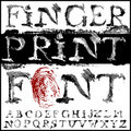 Fingerprint font Royalty Free Stock Images