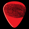 Fingerprint on guitar pick Stock Photography