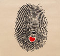 Fingerprint heart Stock Photos