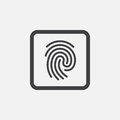 Fingerprint icon Vector illustration isolated on white .