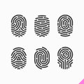 Fingerprint icons set on white Stock Photos