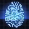 Fingerprint identification system Royalty Free Stock Photo
