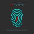 Fingerprint identity vector logo idea