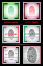 Fingerprint scanner. Access granted denied. Set. Vector illustration Royalty Free Stock Photo