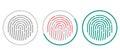 Fingerprint scanning icons isolated on white background. Biometric authorization symbol. Vector illustration. Royalty Free Stock Photo