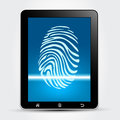 Fingerprint Scanning Tablet Stock Images