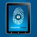 Fingerprint Scanning Tablet Stock Image