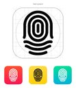 Fingerprint whorl type icon vector illustration Stock Images