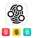 Fingerprint whorl type scan icon vector illustration Royalty Free Stock Images