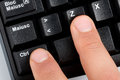 Fingers Typing Undo Command on Keyboard Royalty Free Stock Photo