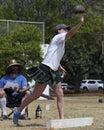 Fingertip control event th annual hawaiian scottish festival highland games iv location ala moana beach park honolulu island of o Royalty Free Stock Image