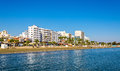 Finikoudes Beach - Larnaka City Royalty Free Stock Photo