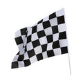 Finish flag for racing car isolate on white Royalty Free Stock Image